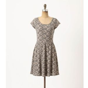 Deletta Anthropologie Brushed Terra Floral Dress